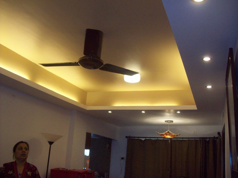 Living Room, false ceiling -